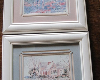 Framed Watercolor Prints, Watercolor Pictures, Watercolor Prints, set of 2 prints