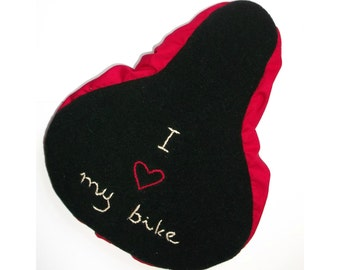 I love my bike seat cover, saddle cover bike bicycle love Sattelbezug