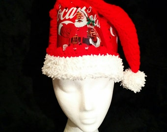 Coca-Cola Crochet Santa Hat