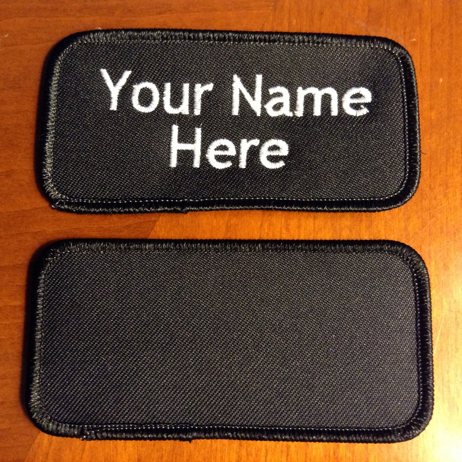 Custom embroidery personalized embroidered name tag patch for Embroidered tags personalized