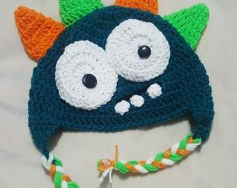 Monster crocheted hat