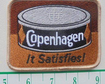 "Vintage Copenhagen""it satisfies""cloth iron-on patch"