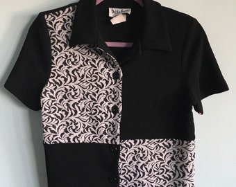 Size small petite focus button up