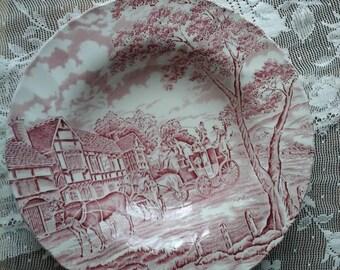 Myott Meakin dish~Myott Meakin Royal Mail~Myott red Royal Mail dish~vintage Myott~vintage Meakin~Meakin Royal Mail~Vintage dish~vintage bowl