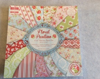 Floral Pavilion paper pad for cardmaking or scrapbooking 12x12