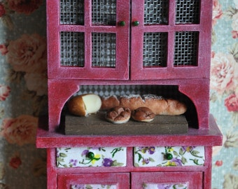 Shelving for kitchen furniture dolls, chic cottage furniture cottage Dolls House, 1:12