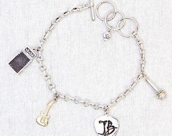 Bona-Fide 2-Tone Charm Bracelet