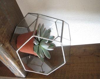 Geometric glass terrarium,Stained Glass Vase, Planter for indoor gardening,Decoration,Airplant Terrarium,Planter,Glass Box