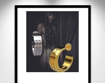 Earring Creole ATLANTIS _ loop creole ATLANTEAN