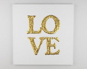 Love Pins Canvas Wall Art