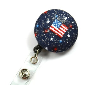 FLAG Fabric Lanyard, Fabric Badge Holder