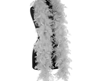 Gray 40 Gram Chandelle Feather Boas - 6 Feet Long - Use as Trim or Wear as a Scarf - Halloween Party Favors - Decorations - Feathers