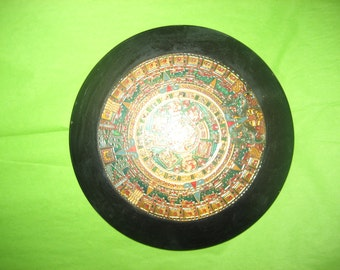 Aztec Calendar Wall Hanging from Mexico