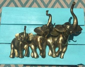 Brass Elephant Wall Art • Wall Hanging