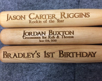 Personalized Mini Baseball Bats, Engraved Groomsmen Gift, Ring Bearer Gift,Trophy Bats
