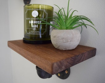 Industrial Wooden Shelves (set of 3)