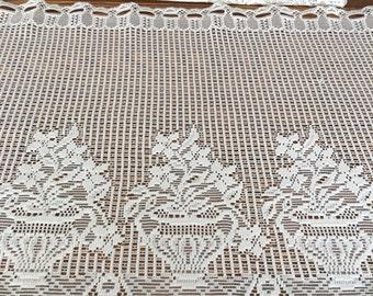 items similar to crochet pattern lace cafe curtain filet vin