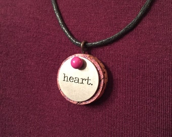"Xapic ""Heart"" Wine Cork Necklace"