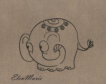 Elephant - MACHINE EMBROIDERY DESIGN