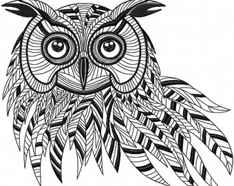 AO 005 Owl - Machine embroidery design