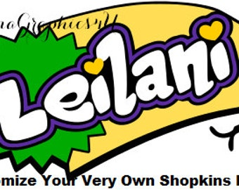 Customized Shopkins Logo SVG