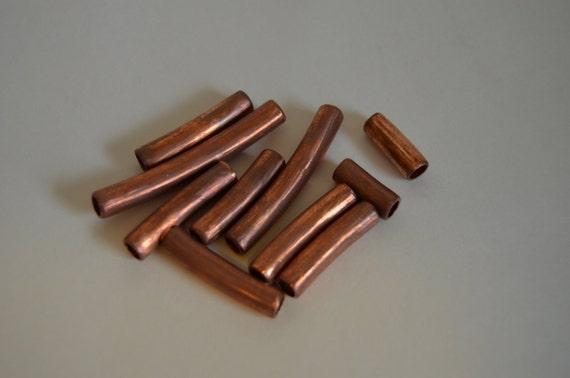 Small Copper Tubing Sizes: Lot Of Copper 10 Tube Beads Copper Tube Beads By