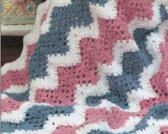 Crochet pattern baby blanket afghan PDF Instant Download Nr.122