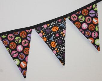 Halloween bunting, fabric garland