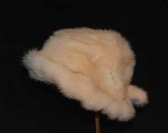 Blonde Mink fur hat