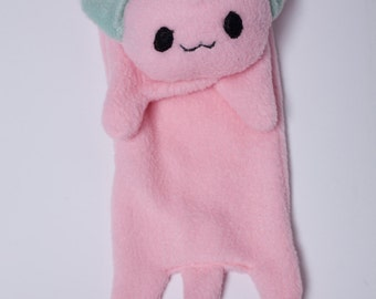 Pink Fleece Cat Scarf