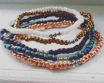 TOHO Bracelet, Toho Seed Beads, Seed Beads, Seed Bead Bracelet, Arm Candy, Festival Fashion, Matte, Boho Chic, Stackable Bracelets, Bohemian
