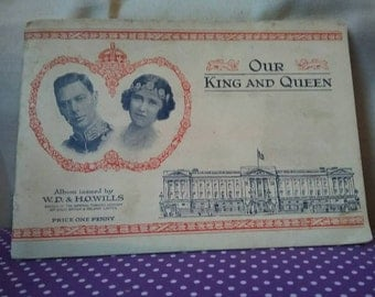 Complete 50/50 Cigarette card album. Our king and Queen. 1937 set. W.D and H.O WILLS.