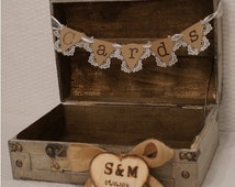 Wedding Card Trunk / Wedding Card Holder / Wedding Card Box / Rustic Wedding Card Box / Custom Wedding Card Box