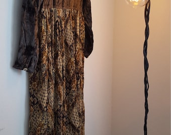 Vintage 1990s Express Collection Bohemian Dress