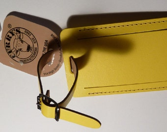 Luggage Tags - Curry's Brand - Leather - Pair (2)