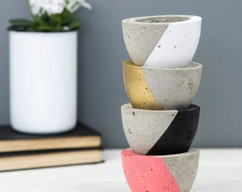 Concrete Planter – Geometric – Housewarming Gift – Concrete Pot – Plant Pot –Indoor Planter – Gift For Her – Wedding Gift – Succulent Pot