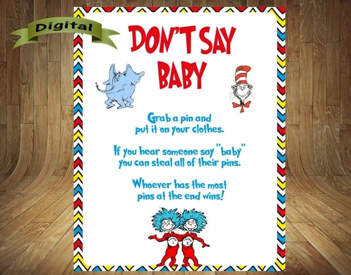 dr seuss don 39 t say baby dr seuss baby shower dr seuss