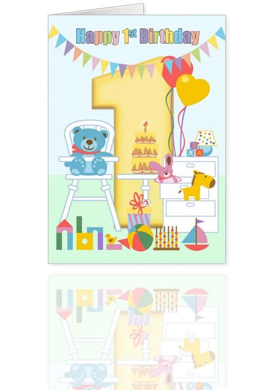 Toys For A 1st Birthday : St birthday card nursery full of toys babies