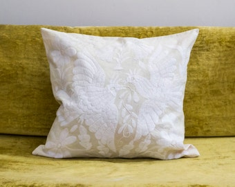 White Birds Otomi Pattern Pillow Sham