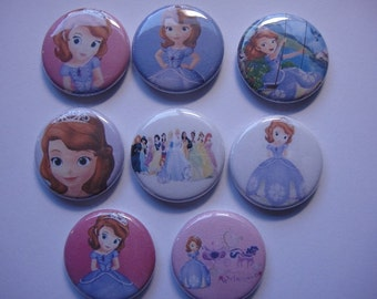 Sofia The First Buttons Set of 16 - 2 of Each
