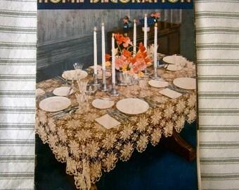 Art Deco Home Decoration Pattern  Lace / Crochet Booklet