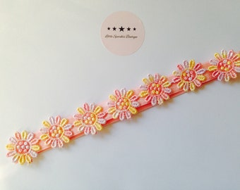 Pastel flower headband, flower headband, hair accessories, girl headband, toddler headband, baby headband