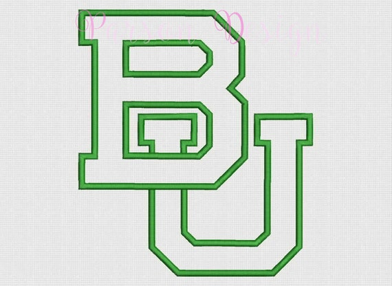Baylor bears size appliqu� design embroidery by parsondesign