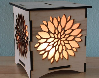 Flower NightLight Laser Cut Lamp