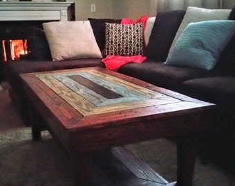 Reclaimed Wood Coffee Table - Modern Stain