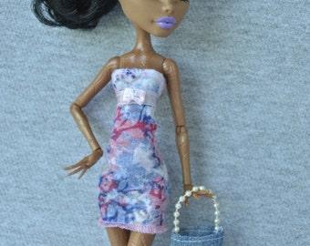 Handmade dress and bag  for Monster High dolls
