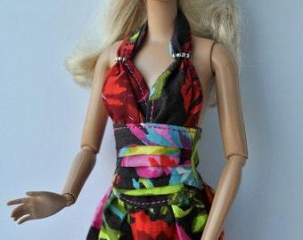 Handmade long dress for Barbie dolls