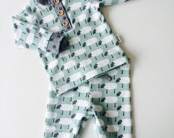 Baby girl sheep pajama
