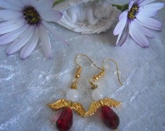 Gold Plated Angel Earrings