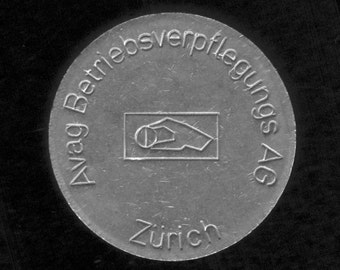 Swiss chip for coin operated food dispensers - Switzerland - jeton coin vintage token